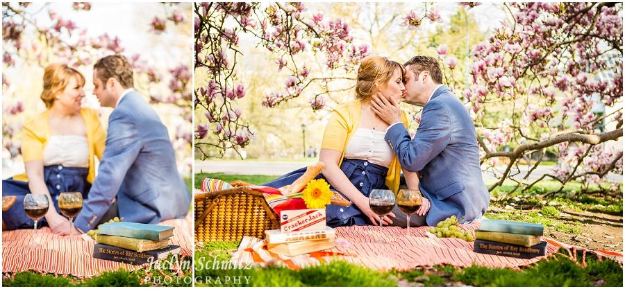 picnic central park engagement session