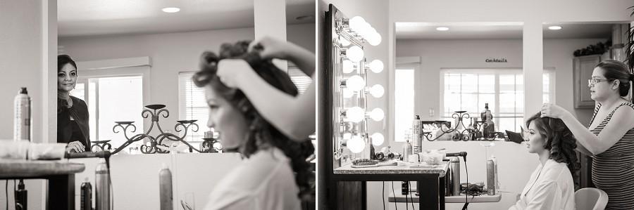 bride getting ready hollywood vanity mirror