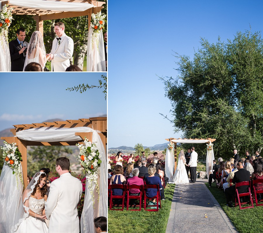 sunny wedding ceremony wedgewood glen ivy riverside