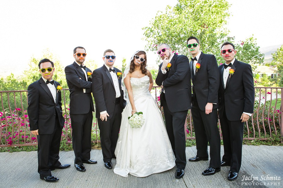 funny mustache sunglasses wedding party