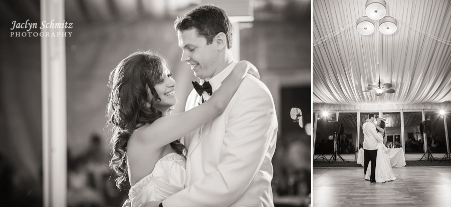 classic first dance wedding black and white