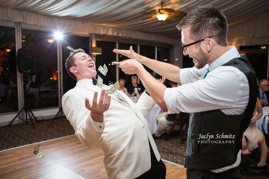 throwing money at groom money dance