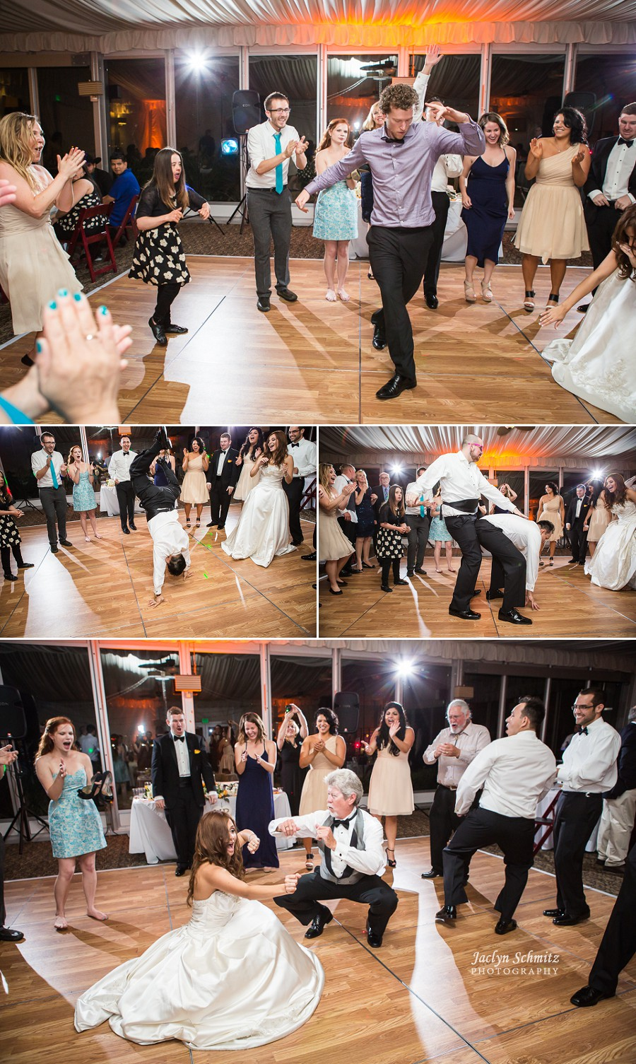 crazy fun energetic dancing at reception