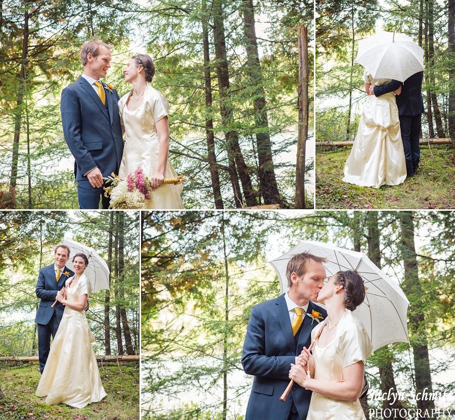 antique white umbrella wedding portrait bride