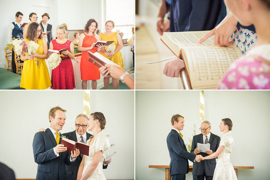 singing church hymns vermont wedding