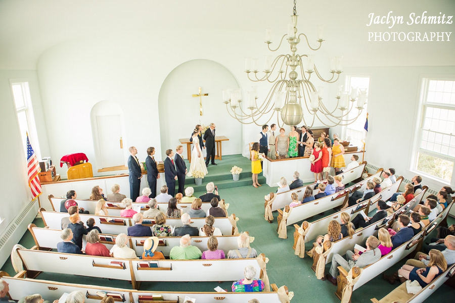 balcony view church wedding vt