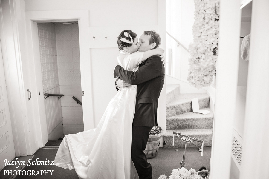 candid private first kiss wedding