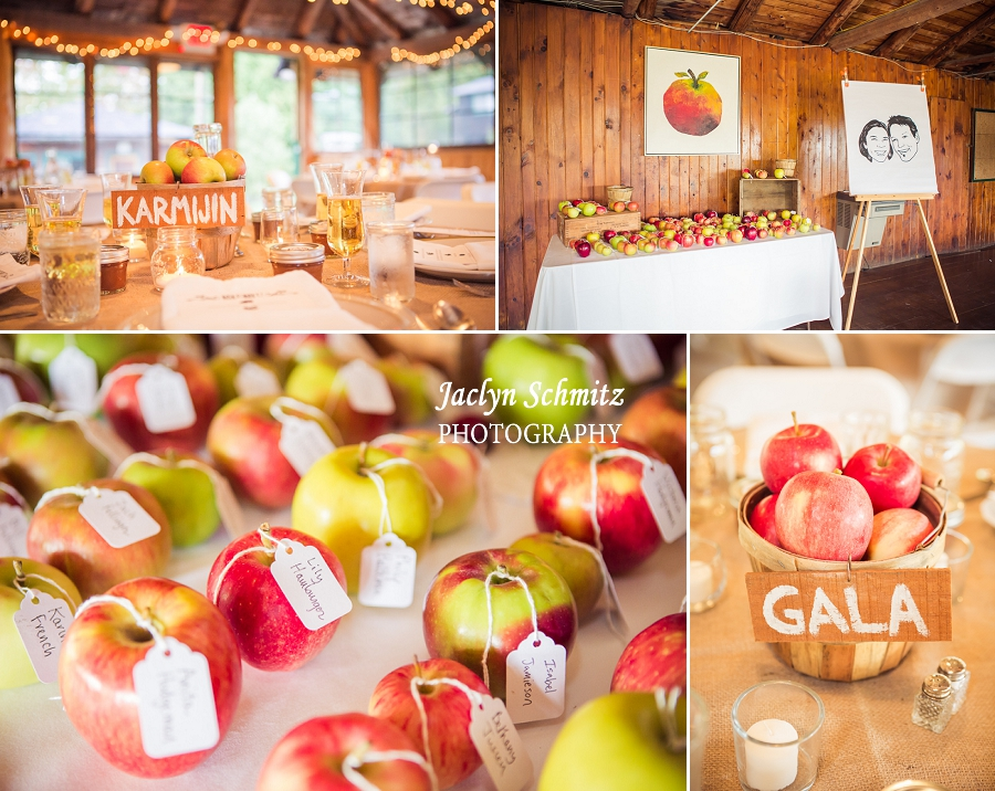 fall apple table decor wedding