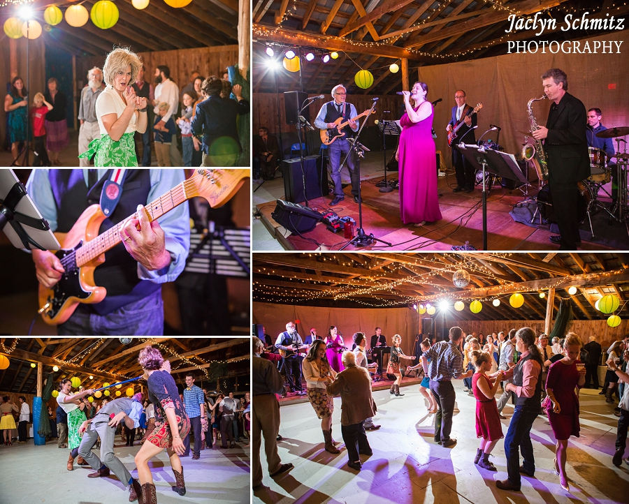 live band barn wedding reception