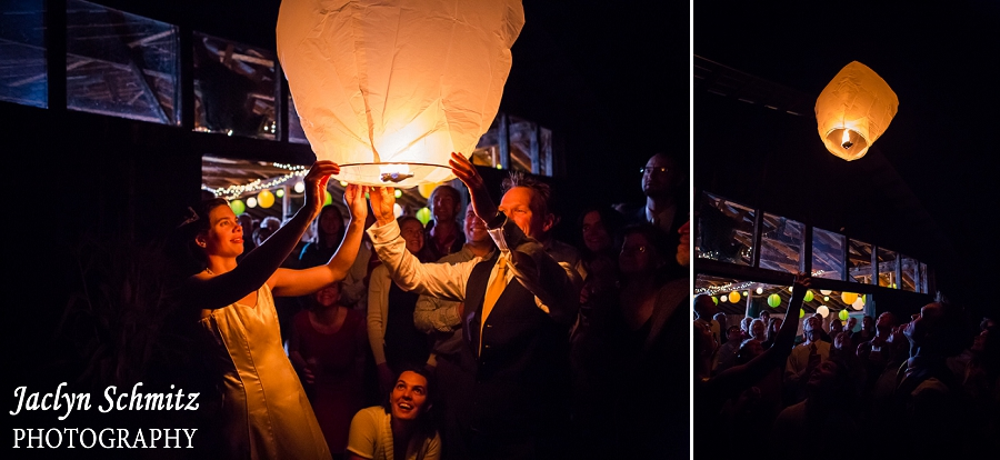 chinese lantern send off wedding