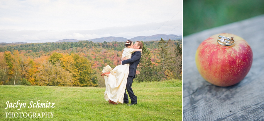 fall leaves vermont wedding photography
