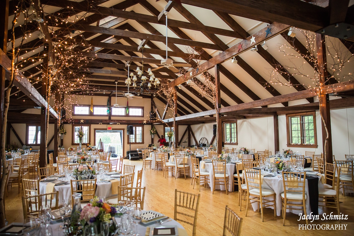 large barn rafter wedding reception crisanver house