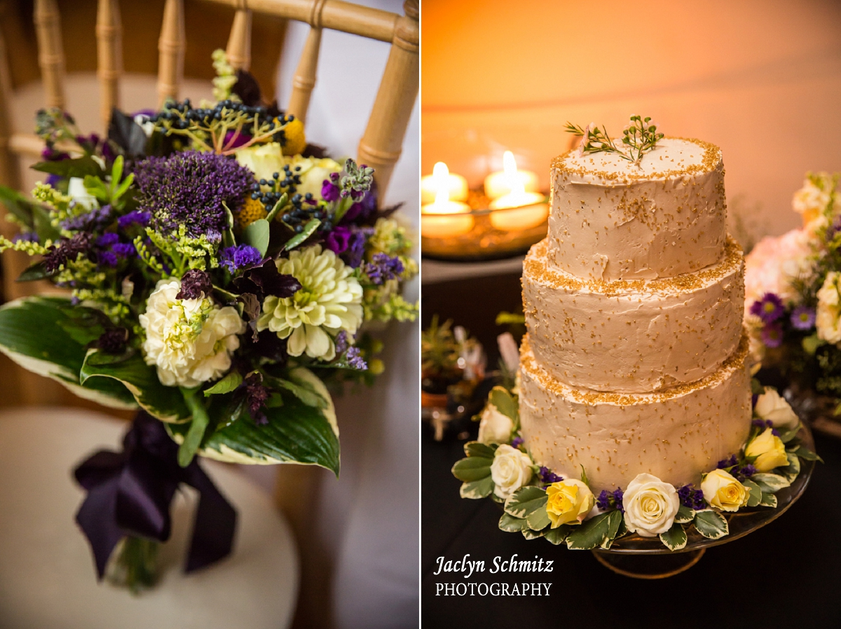 caramel gold rustic wedding cake