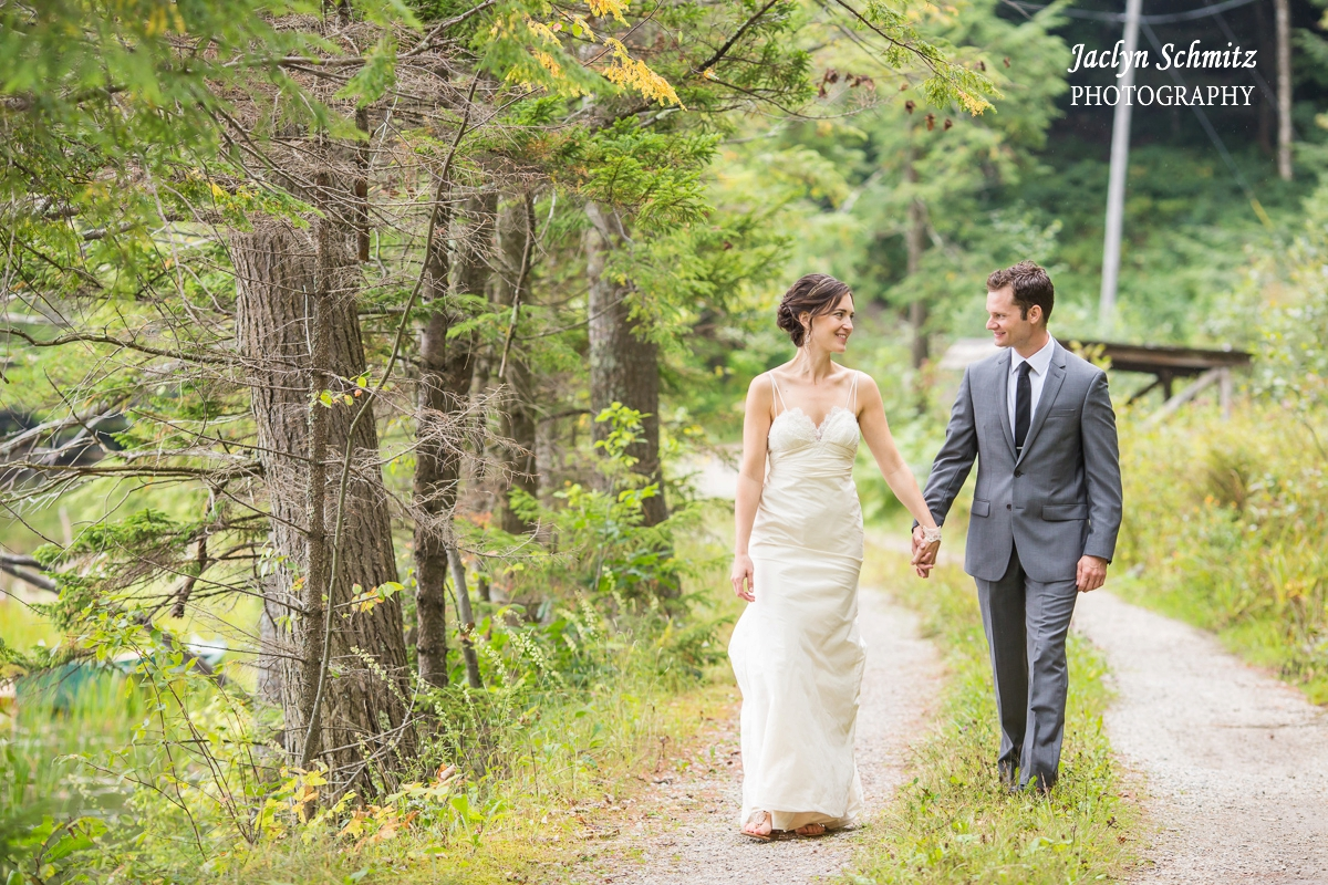 relaxed gorgeous woods wedding portraits in vermont