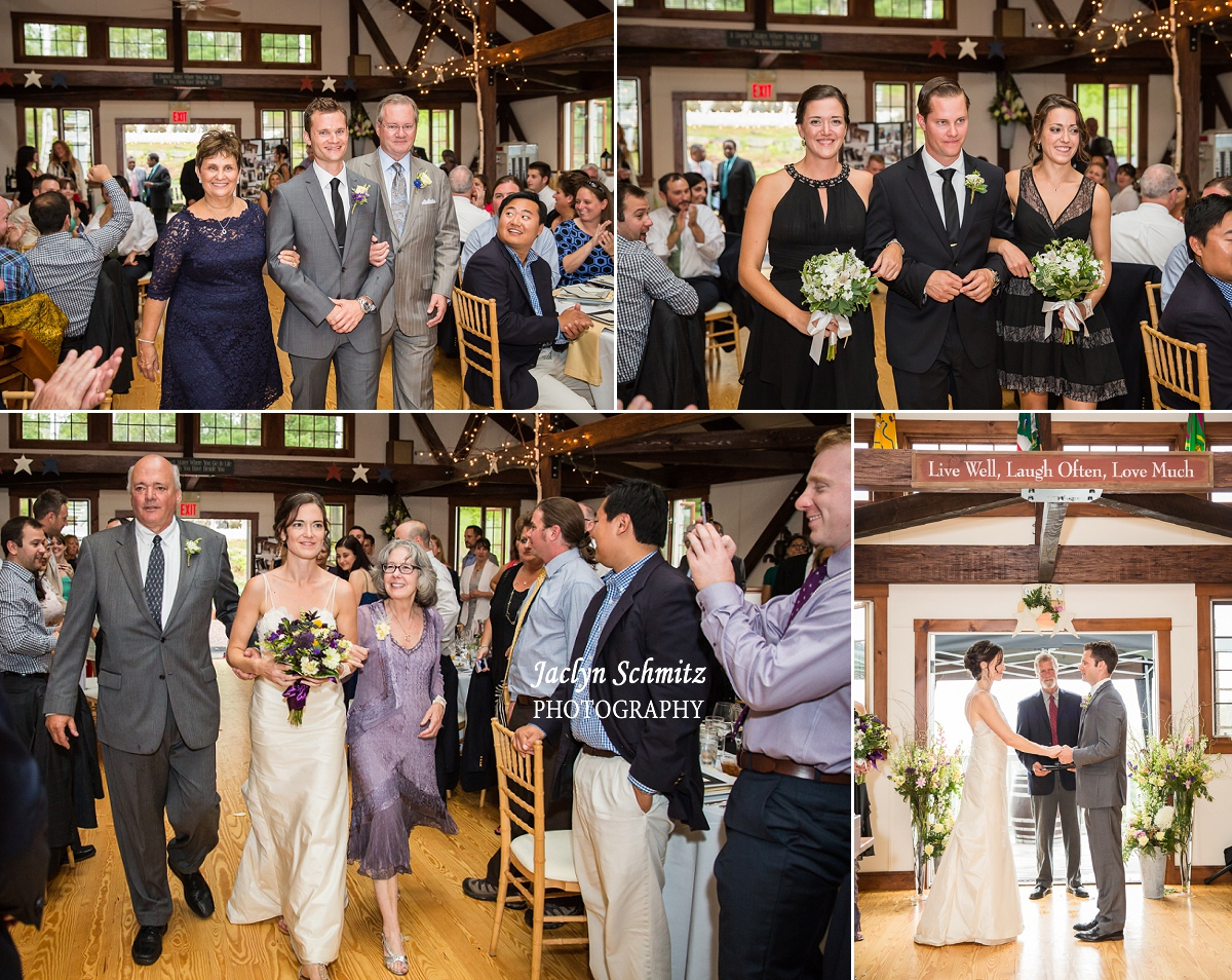 indoor barn wedding ceremony vt