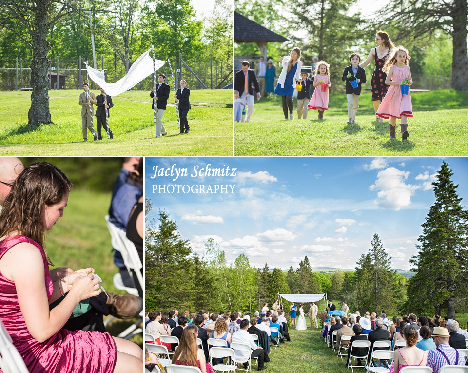 perfect summer day outdoor jewish ceremony