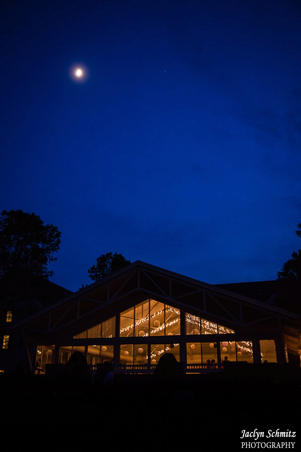 moon shines over essex resort and spa night photo