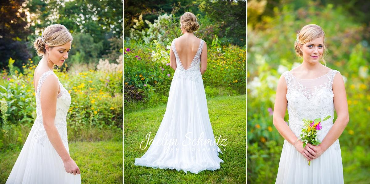 fiori bridal low back beaded romantic wedding dress
